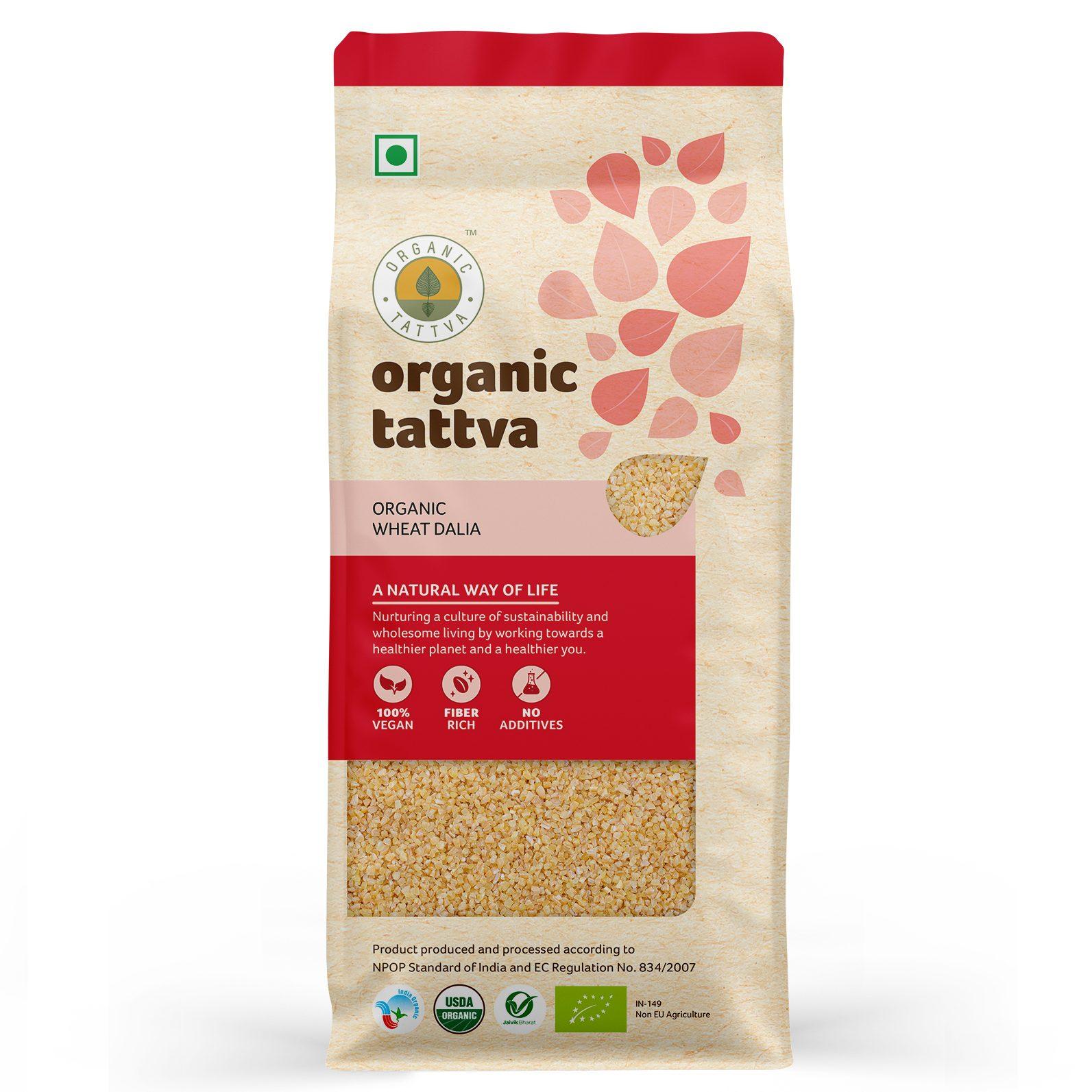 Organic Tattva Organic Wheat Dalia
